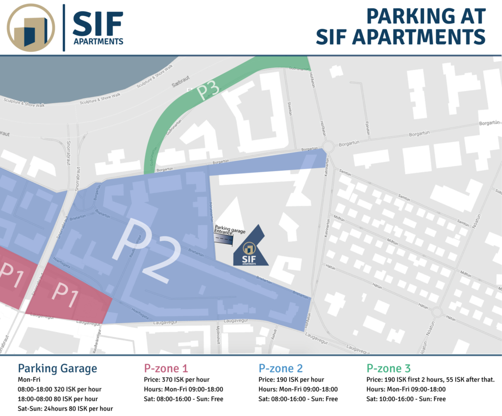 Sif Apartments parking